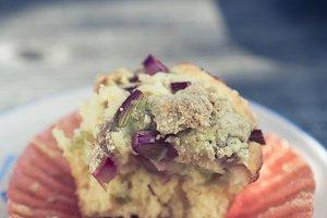 pieplant muffin sweet dessert