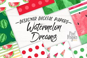 Watercolor Summer Digital Paper