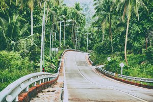 Road on tropical island