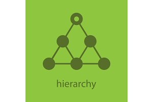 Hierarchy glyph color icon