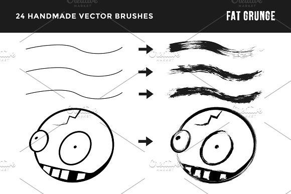 Fat Grunge – Illustrator Brush Pack