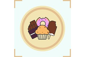 Sweets color icon