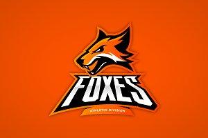 Fox mascot sport logo design