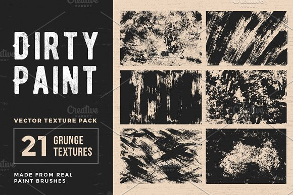 Dirty Paint Vector Texture Pack