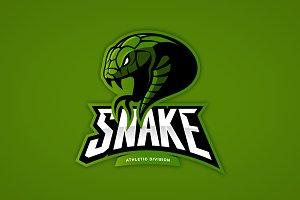 Snake mascot sport logo design