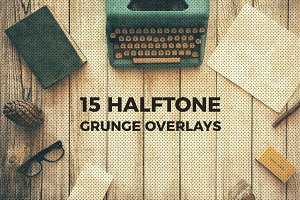 Halftone and Grunge Overlays