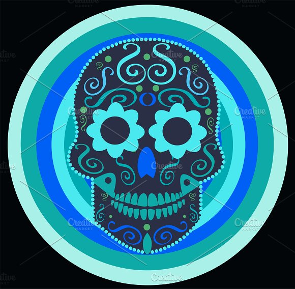 Skull Icon In A Circle