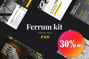 Ferrum Kit for Industry Landing Page