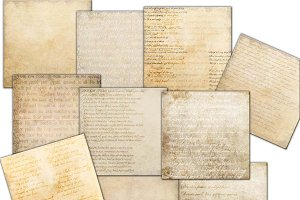 Vintage handwritten papers