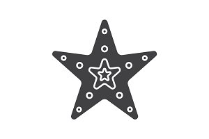 Sea star glyph icon