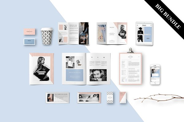 Stationery Templates: AgataCreate - MALINA Branding Bundle – All in One