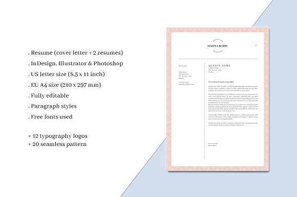 malina branding bundle all in one stationery templates on