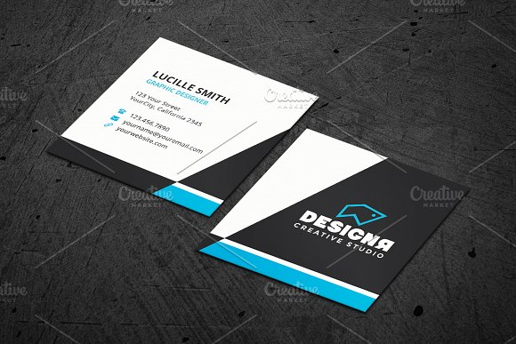 Corporate Square Business Card