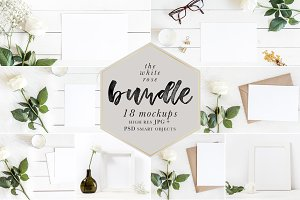 The White Rose Mockups Bundle