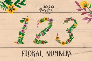 Floral Numbers - Secret Garden