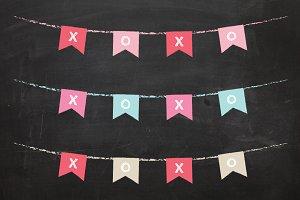 Chalkboard XOXO Banner