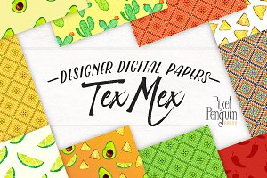 Mexican Theme Digital Paper
