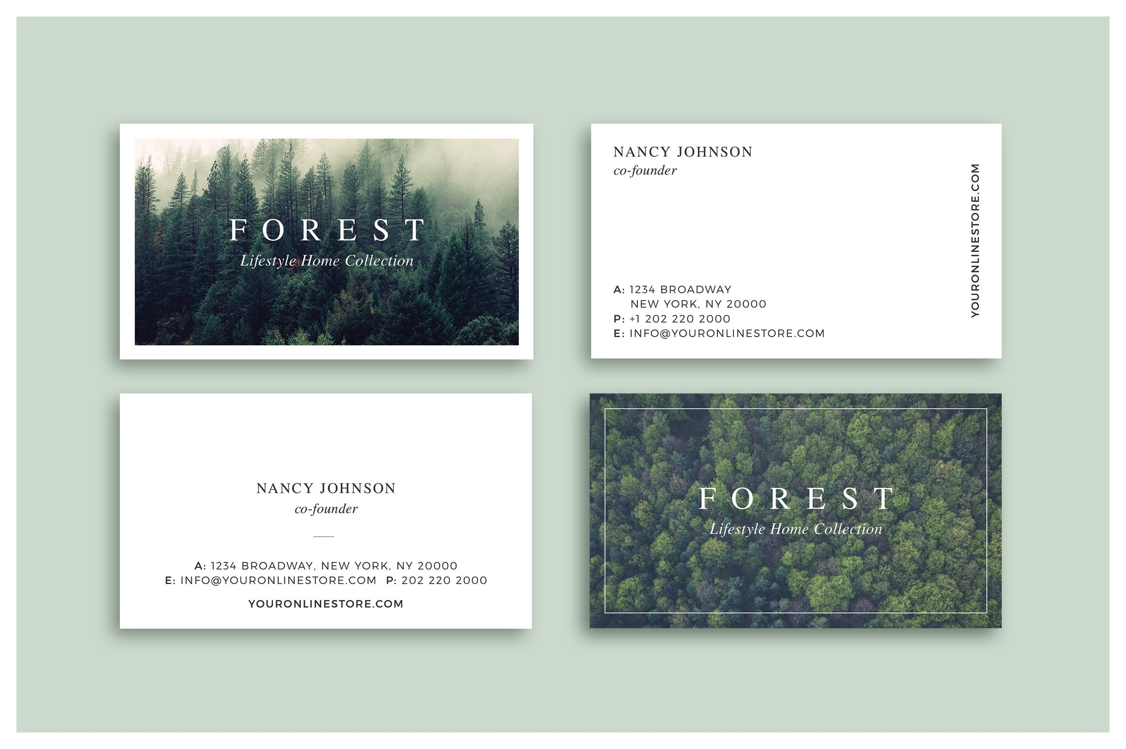 forest business cards business card templates creative