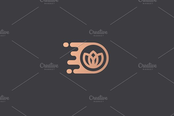 Flower Logo Design Template Dynamic Vector Unusual Delivery Icon