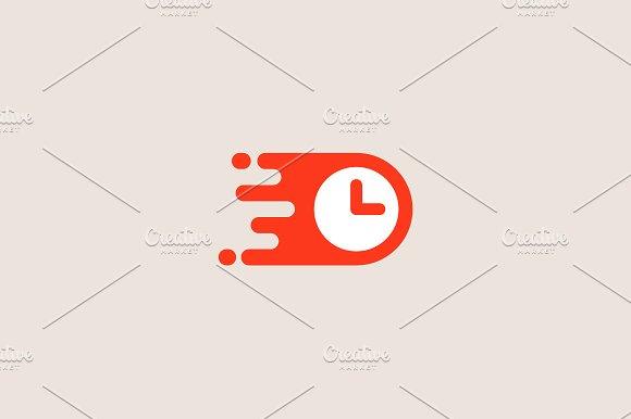 Clock Logotype Time Management Vector Logo Design