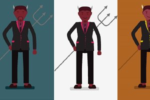 Devil wearing office suit