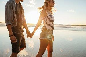 Couple on summer vacation