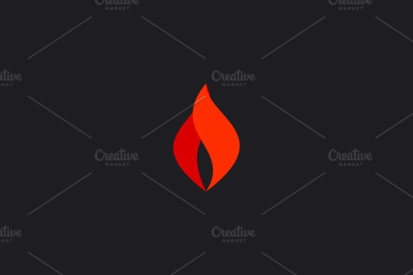 Abstract Fire Logo Symbol Design Flame Vector Icon Logotype