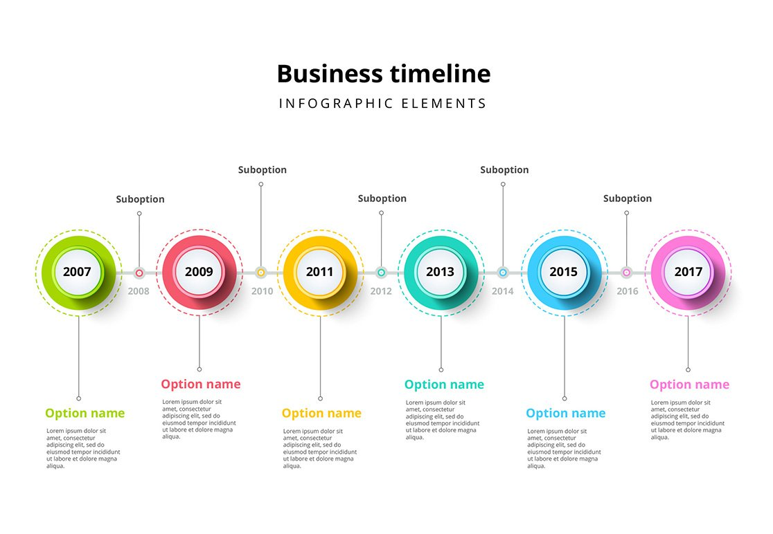 Timeline infographics template ~ Presentation Templates ...