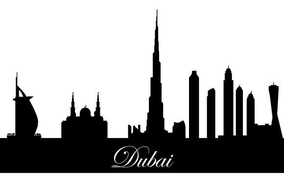 Vector Collection Silhouette Dubai Illustrations