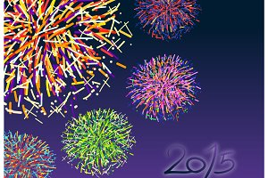 colorful firework 2015