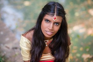 Young Indian woman portrait