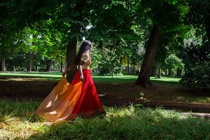 Indian woman in Nature