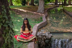 Young Indian woman in nature