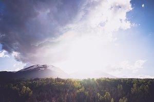 Sun Beams Over the Mountains