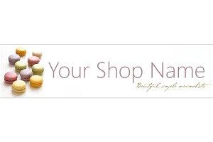 Pastel Macaroons Shop Banner