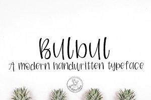 Bulbul | A Modern Handwritten Font