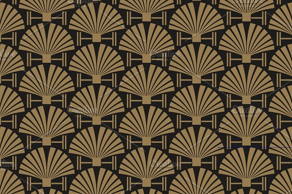 Art Deco seamless pattern ~ Graphic Patterns ~ Creative Market