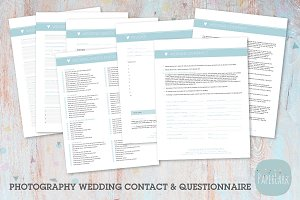 NG016 Photography Wedding Forms