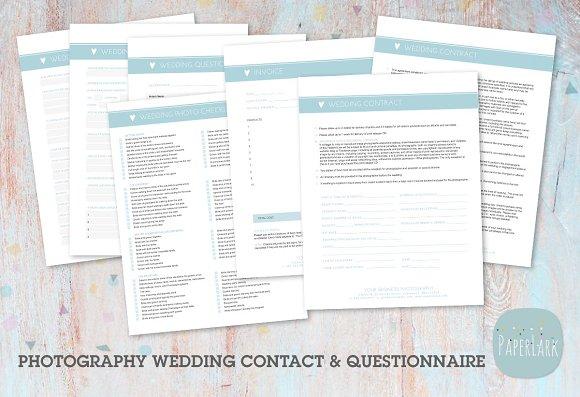 NG016 Photography Wedding Forms