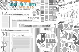 Customizable Planner Page Templates