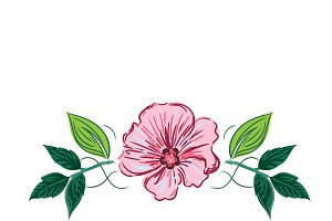 flower in sketch style, vector