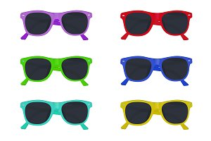 set of sunglasses, vector