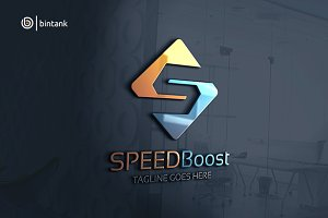 Speed Boost - Letter S Logo