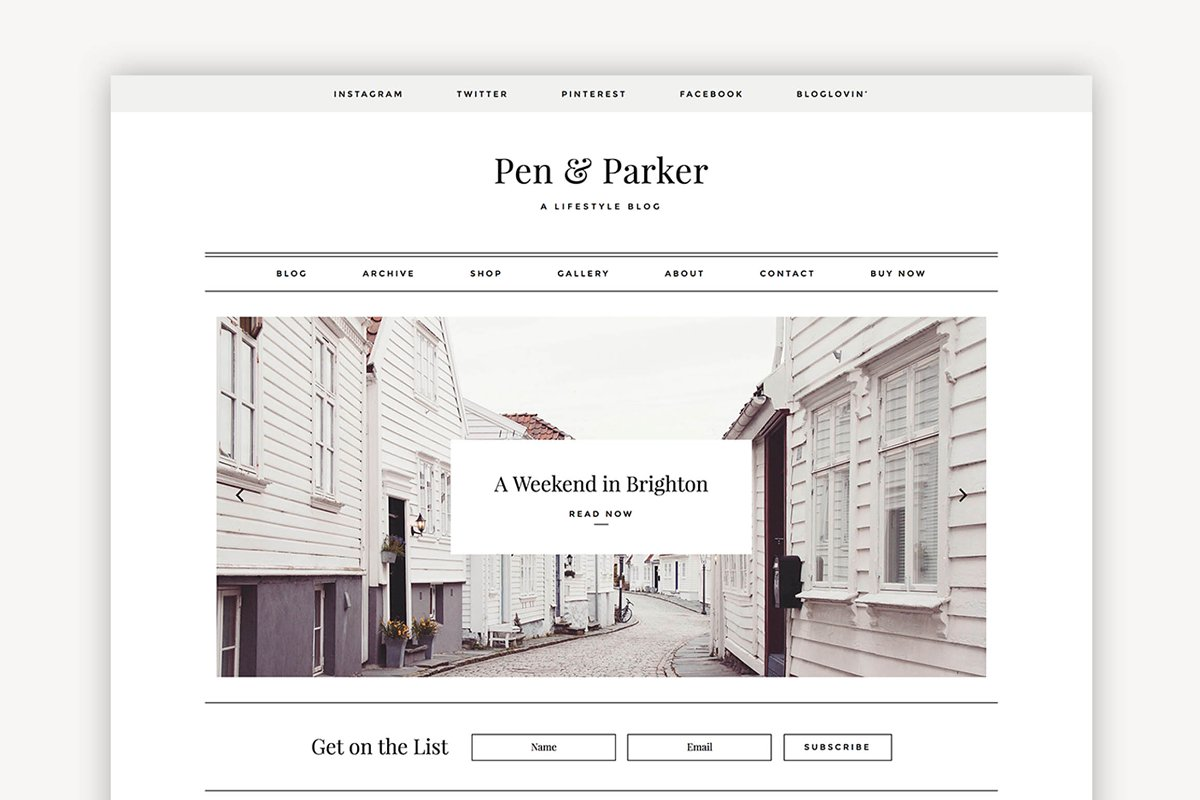 Parker - A Minimalist Theme ~ WordPress Blog Themes ~ Creative Market
