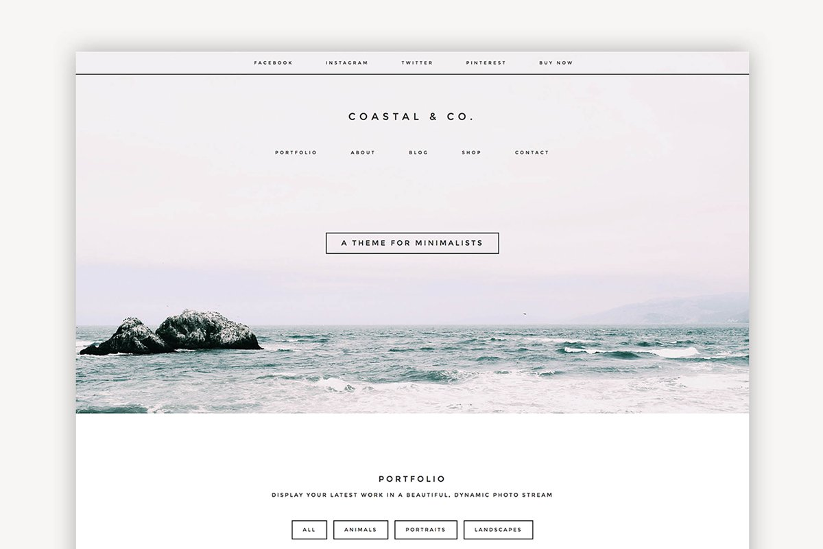 Coastal Multipurpose Theme ~ WordPress Portfolio Themes ~ Creative