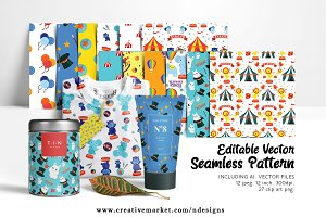 Circus Seamless Tileable Pattern