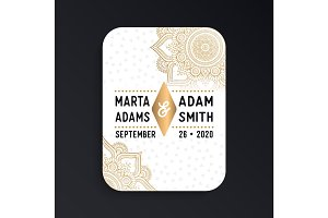 Luxury wedding card invitation