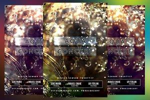 Aqua Concert Flyer