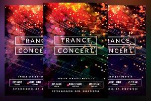 Trance Concert Flyer