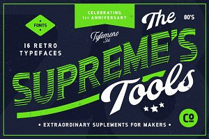 NEW! Supreme Tools • 16 Fonts Pack
